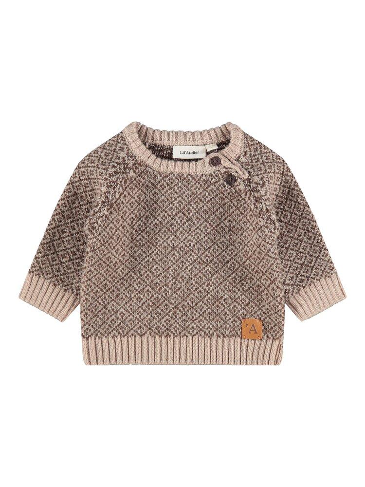 Image of Lil' Atelier Eroger LS knit - HUMUS (cbc3198f-cdad-437e-8e67-5036b83d90db)