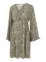 Mayra L/S kort kjole - SNOWWHITE