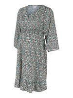 Nathalia 3/4 kort kjole - BLACK