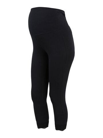 Eliana 3/4 jersey lace legging 2pak - BLACK