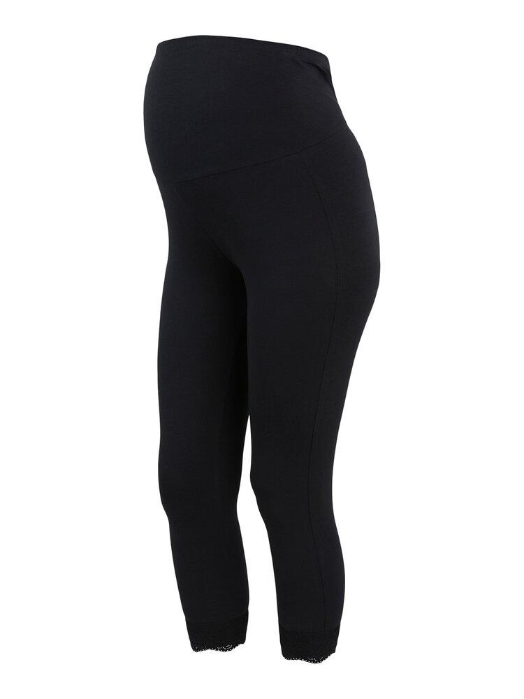 Image of MamaLicious Eliana 3/4 jersey lace legging 2pak - BLACK (62ad522d-797a-40d8-ab1c-35871b561a21)