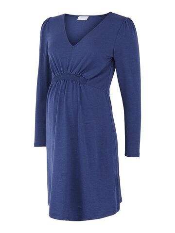 Analia L/S jersey kjole - ESTATEBLUE