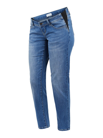 Essex slim fit jeans med elastik - BLUE DENIM