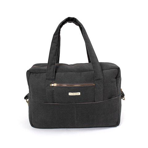 Mommy bag - fløjl, Stone grey