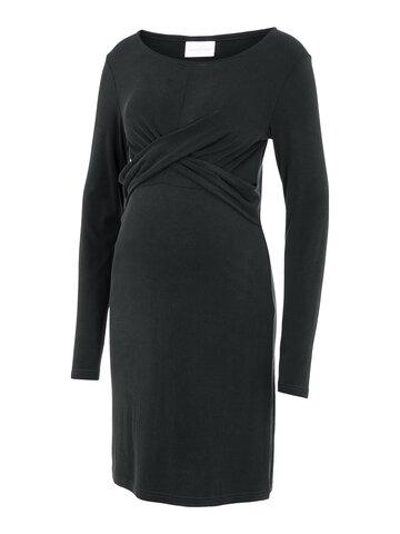 Katiana L/S jersey kort kjole - BLACK