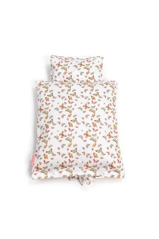Dukke sengetøj m. sommerfugle