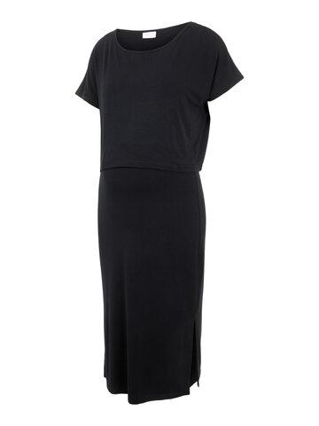 Jill June jersey midi kjole - BLACK