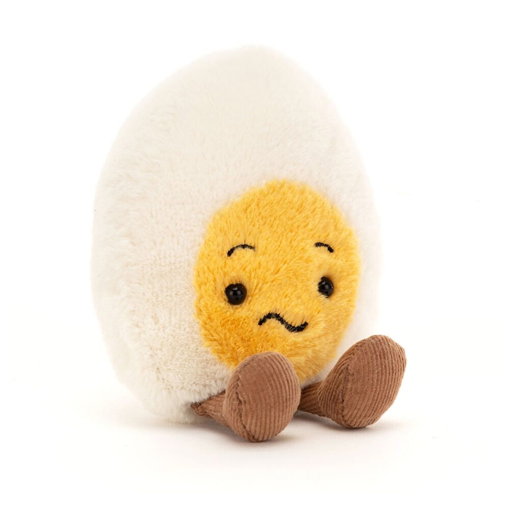 JellyCat Mood æg, Forvirret, 14 cm