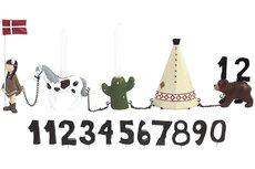 Fødselsdagstog, indianerpige m. 11 tal