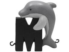 M bogstav med marsvin hval til navnetog