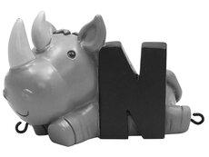 N bogstav med næsehorn til navnetog