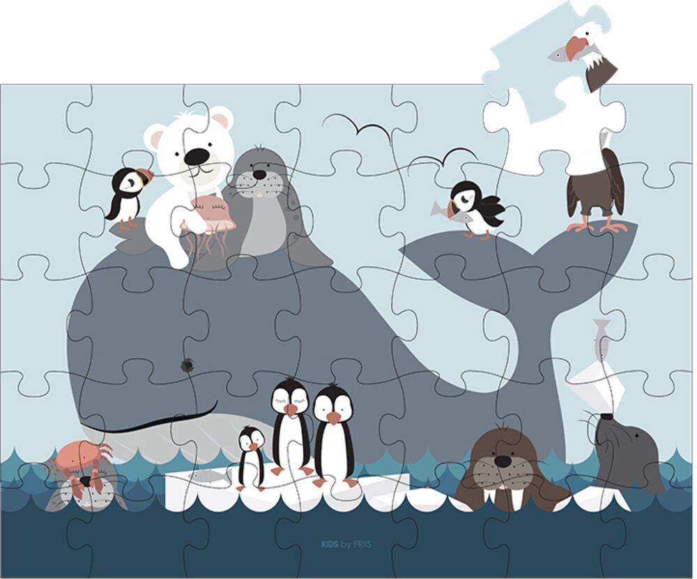 Image of Kids By Friis Puslespil 35 brikker, havets dyr (37722b93-771c-4a0f-8efe-3c5f697d1b29)