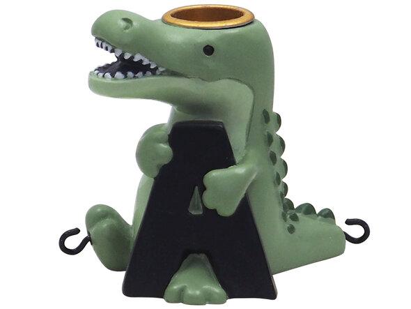 A bogstav med aligator til navnetog