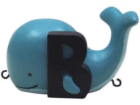 B bogstav med blåhval til navnetog
