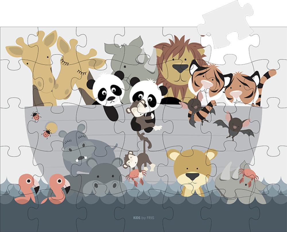 Kids By Friis Puslespil 35 brikker, Noahs ark