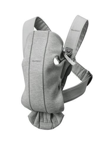 Bæresele Mini, 3D Jersey, lysgrå