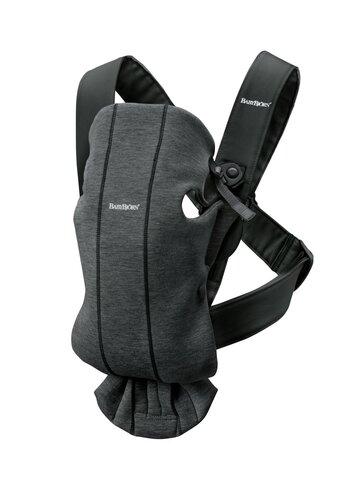 Bæresele Mini, 3D Jersey, charcoal grå