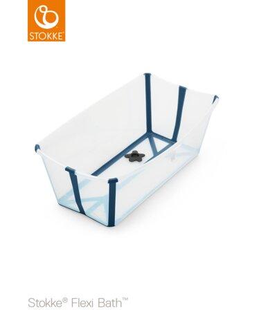 Stokke Flexi Bath - transperant blå