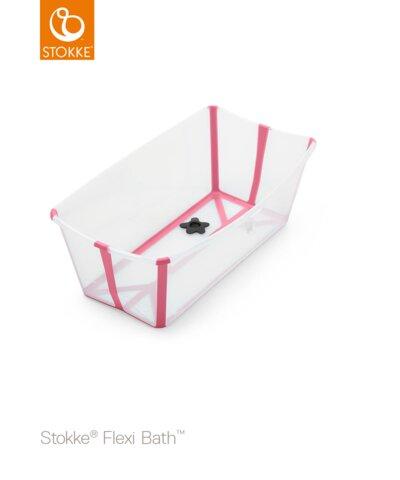Stokke Flexi Bath - transperant pink