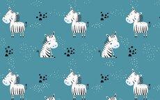 Junior dynebetræk blå m/zebraer