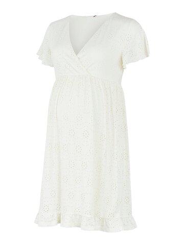 Denise Tess jersey kort kjole - SNOW WHITE