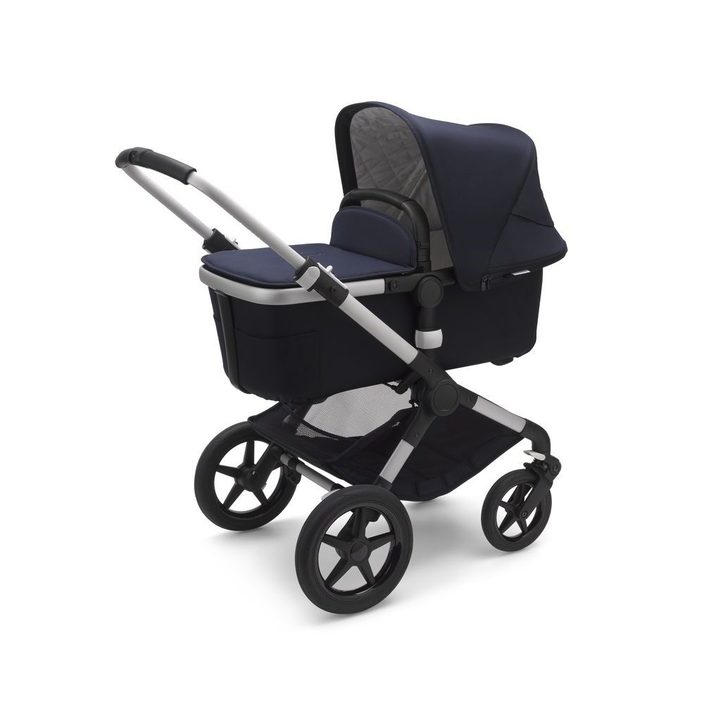Image of Bugaboo Fox2 Classic Complete Duovogn - dark navy på alu stel (f1fdc550-67d2-409a-b661-3447106ae406)