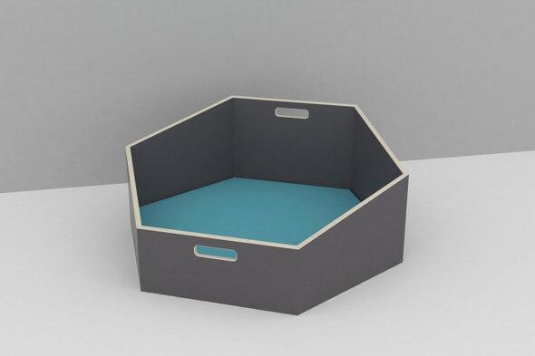 Hexa Cozy m/ turkis madras