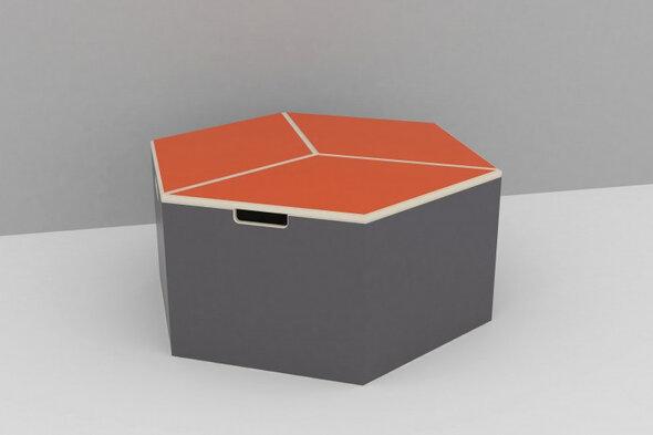 Hexa Box med orange top
