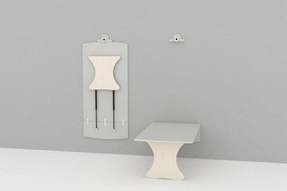 Væghængt bord L: 1200 mm - lille