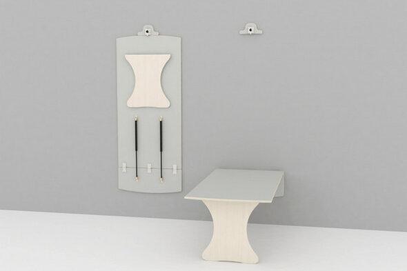 Væghængt bord L: 1400 mm - mellem