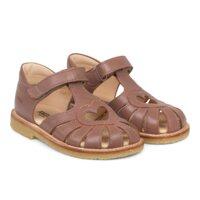 Hjerte sandal med velcrolukning - 1524