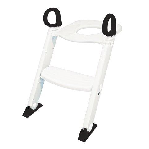 Toilettræner med trappe - Hvid