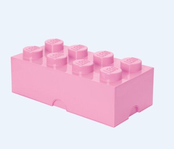 Lego Opbevaringskasse 8 - Lys Pink