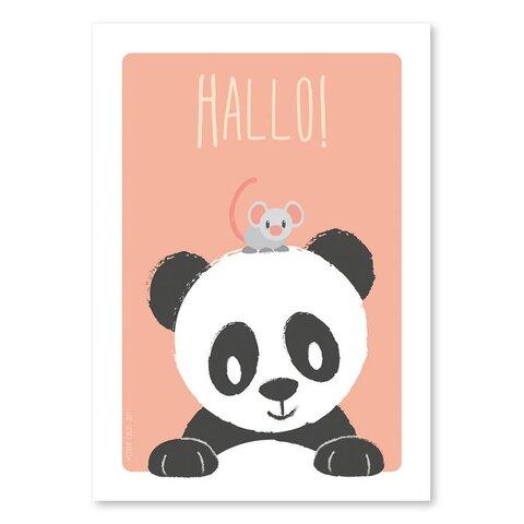 Plakat - Panda & Mus - A4