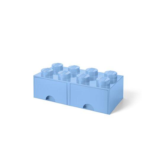 LEGO Opbevaringsskuffe Brick 8 - Lys Royal Blå