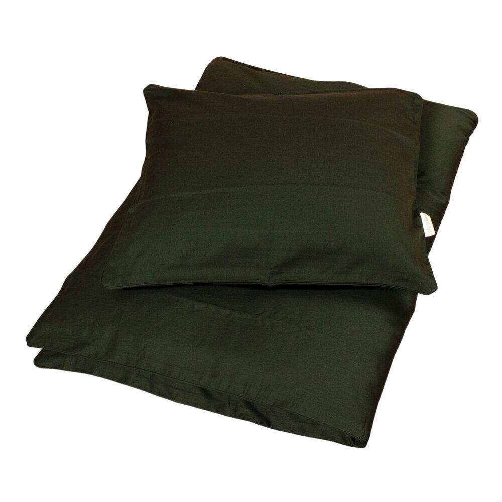 Filibabba Sengetøj baby Sateen quality, Dark green