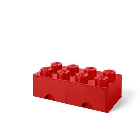 LEGO skuffe brick 8 bright red