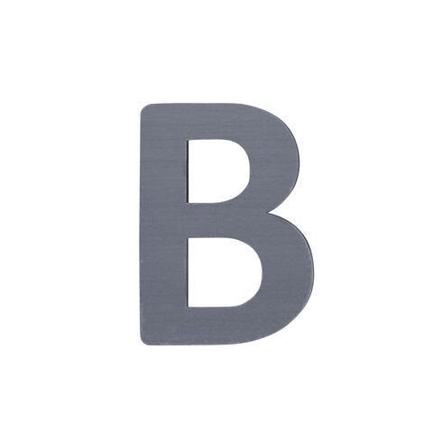 B - Træbogstav - Grå