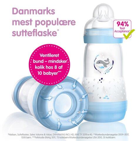 2 Pk. Anti Colic Flaske 260 Ml. - Flere Farver