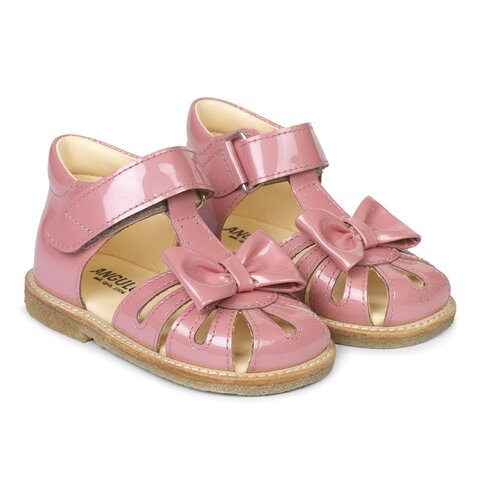 Begynder sandal med sløjfe og velcro lukning - 2389