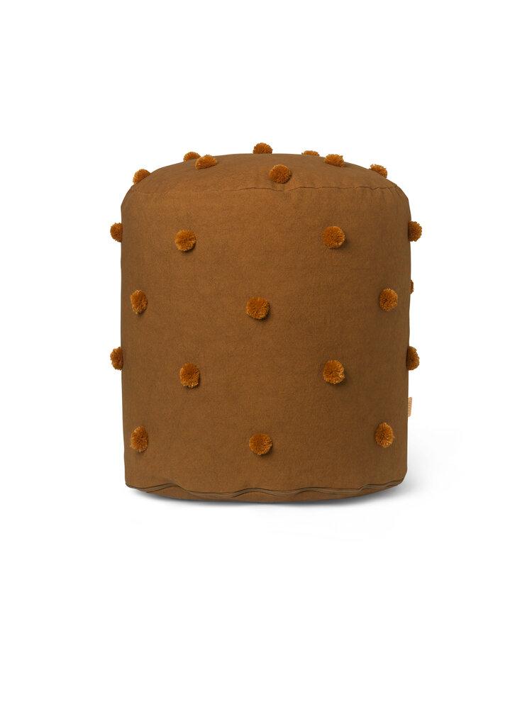 Image of ferm Living Dot Tuftet Puf - Sugar Kelp Mustard (be74c650-4b4f-4e39-a0ac-e649d4e9a332)