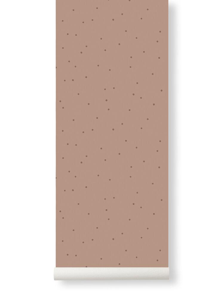 Image of ferm Living Dot tapet - Støvet Rosa (56f65415-2764-4cdc-9dc9-9ac1395fa7a3)