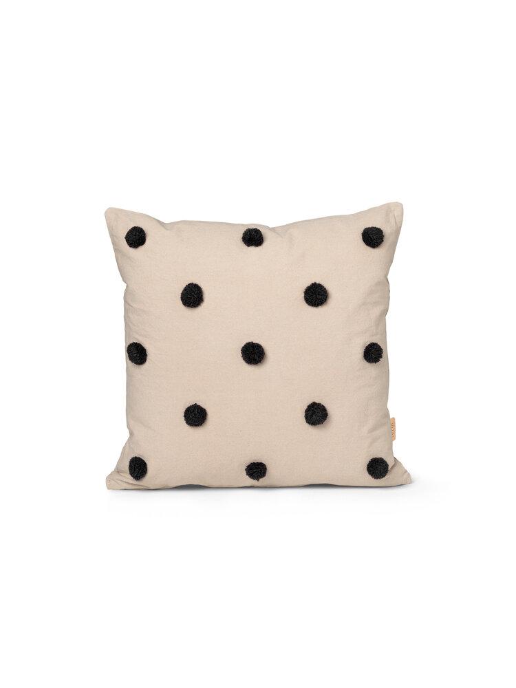 Image of ferm Living Dot Tuftet pude - Sand Black (9d73fb1c-e69d-457f-9596-881ac4750f8e)