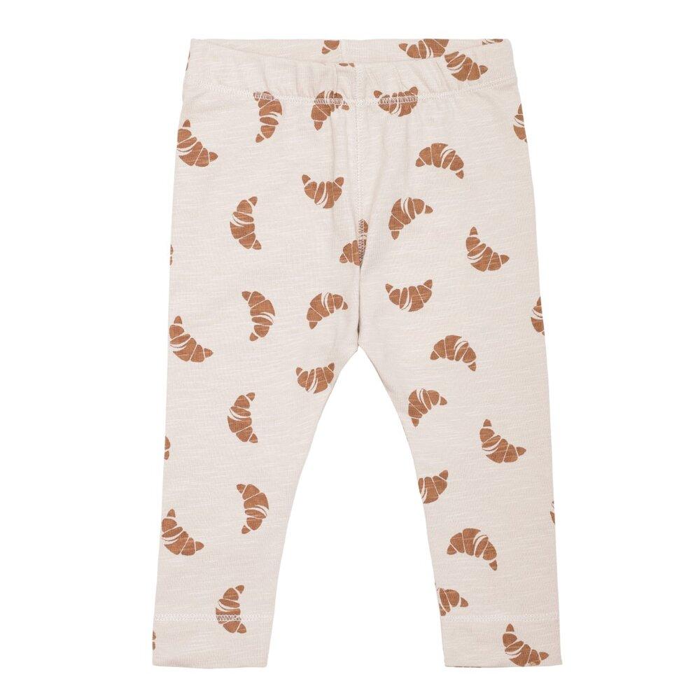 Image of Monsieur Mini Simpel leggings Croissant - OFFWHITE/APPLE (475f08a7-469a-4811-86b9-0ac23d56ab35)