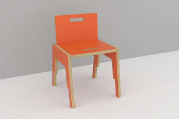 Frigg stabelbar stol med ryg H: 33 cm