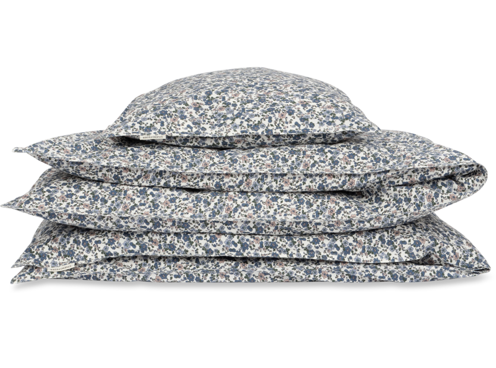 Image of Studio Feder Baby sengesæt - floral blue (5a343e45-ea9d-42e0-8340-74d42ceb3ea3)