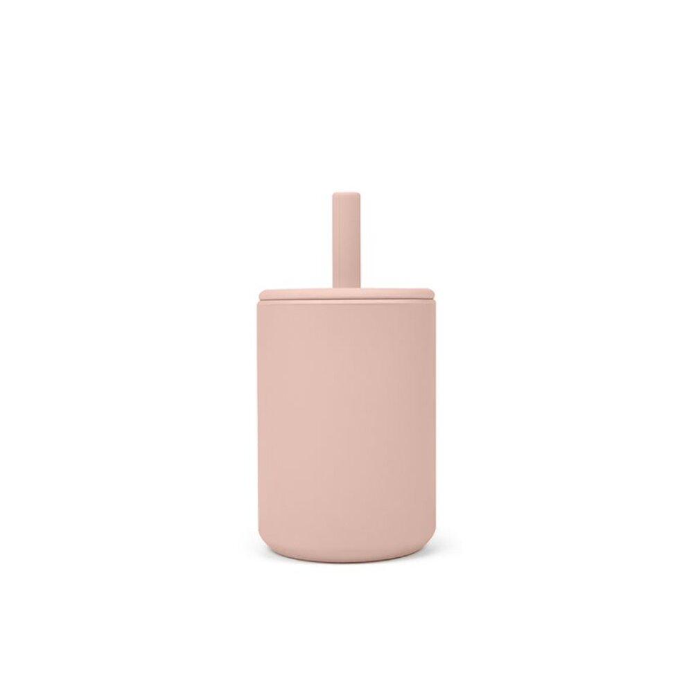 Image of That´s Mine Kop med sugerør silikone 2-pack, Rose/grey (91c1de53-dde2-45a0-bff6-838f7b4a4729)