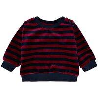 Striped velvet jersey trøje - 477