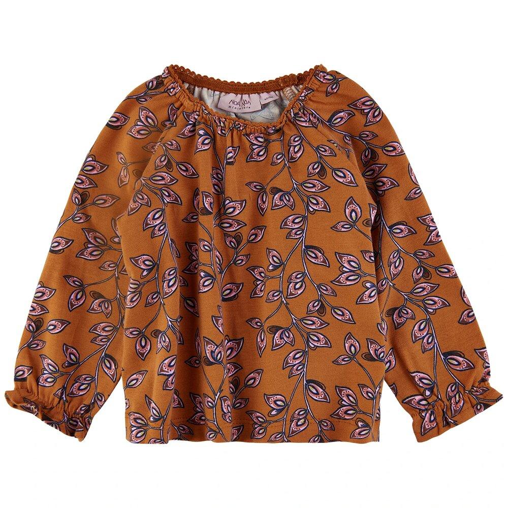 Noa Noa Miniature Spring leaf jersey T-shirt L/S - 549