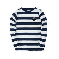 Jumbo L/S t-shirt - HVID/NAVY